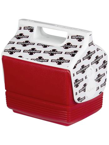 Independent X Igloo Playmate Mini Cooler red / white