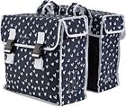Basil Mara XL Luggage Carrier Double Bag L, heart dots