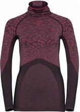 Odlo Blackcomb LS Shirt with Facemask Women, black/cerise/cerise