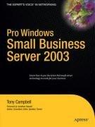 Pro Windows Small Business Server 2003 (Tony Campbell), kirja
