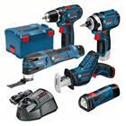 Bosch Akkukonesarja (0615990K11) 12V 3x2,0Ah, akkukonepaketti GSR 12V-15 + GDR 12V-105 + GOP 12V-28 + GSA 12V-14 + GLI 12V-80