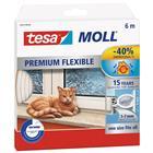 Tesa Tesamoll Premium Flexible Tiivistenauha silikoninen, 6m, 9 mm x 7 mm Läpinäkyvä