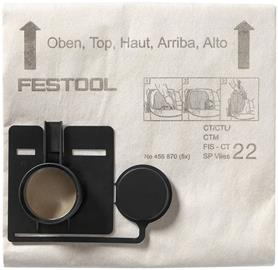 Festool FIS-CT 33 SP VLIES Suodatinpussi 5 kpl:n pakkaus