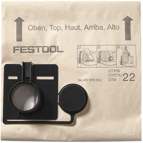 Festool FIS-CT 55 Suodatinpussi 5 kpl:n pakkaus