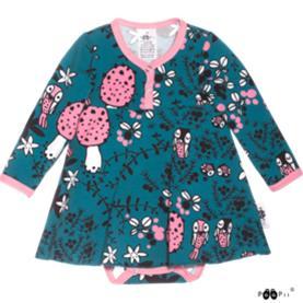 PaaPii vauvan mekkobody Sammalpolku petrooli-vaaleanpunainen