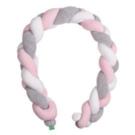 LULANDO reunapehmuste letitetty Harmaa/vaaleanpunainen/Valkoinen 200 cm - harmaa