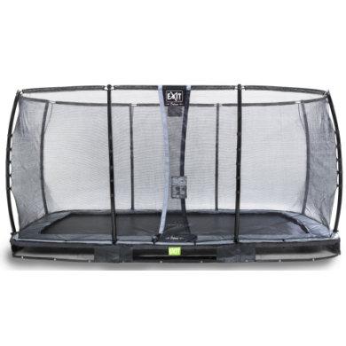 EXIT maatrampoliini Elegant Premium 244 x 427 cm Deluxe-turvaverkolla - musta