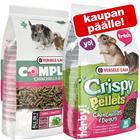 Yhteispakkaus: Versele-Laga Complete + Crispy Pellets Chinchilla & Degu - Crispy Pellets (1 kg) + Complete Chinchilla & Degu (1,75 kg)