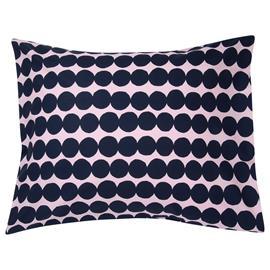 Marimekko Räsymatto tyynyliina, vaaleanpunainen - tummansininen