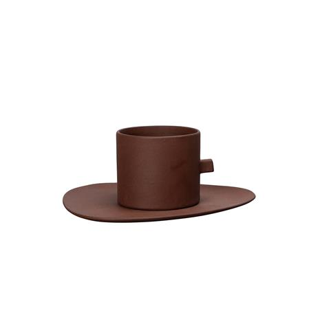 By On Clay Coffee Cup & Fat 9x6 cm / 17x1x15 cm, Brown