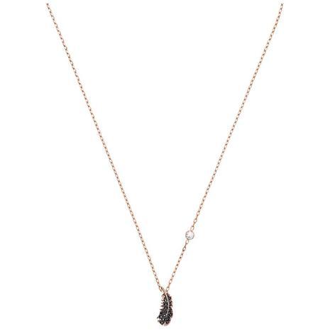 Swarovski Naughty Necklace, Black/Rosä© Gold