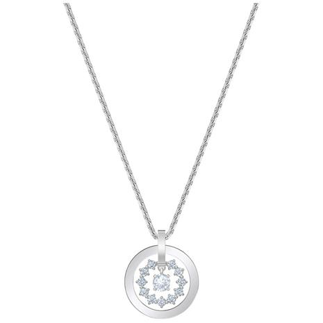 Swarovski Further Necklace, White/Rhodium