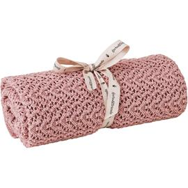 Garbo & Friends Croshet Blanket, Berry Pink