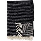 Klippan Yllefabrik Velvet Throw 130x200 cm, Black