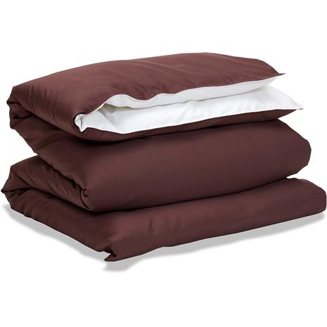 Gant Home Sateen Duo Duvet Cover 150x210 cm, Bark Brown
