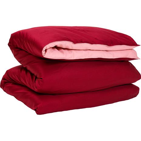 Gant Home Sateen Duo Duvet Cover 150x210 cm, Carbernet Red