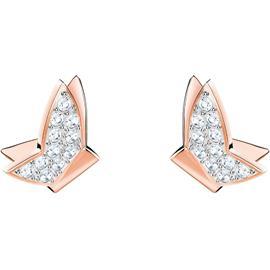 Swarovski Lilia Earrings, White/Rose Gold