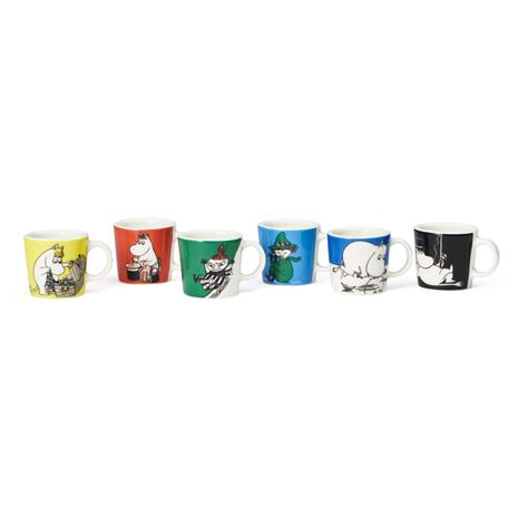 Arabia Moomin Mini Mugs, 6 Pcs