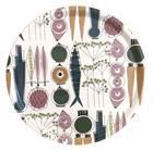 Almedahls Picknick pyöreä tarjotin Ø 38 cm Sininen-vaaleanpunainen