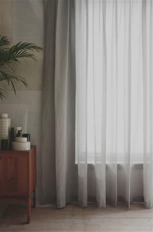 Mimou Grace Verhot, 290x250 cm, Vaaleanharmaa