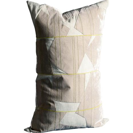 Dirty Linen Patchy Cushion Cover 40x65 cm, Moon