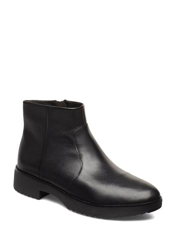 FitFlop Maria Bootie Lthr Shoes Boots Ankle Boots Ankle Boots Flat Heel Musta FitFlop ALL BLACK