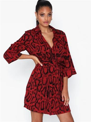 Ax Paris V Neck Snake Print Dress