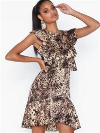Ax Paris Leopard Flounce Dress