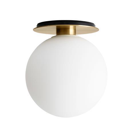 Menu TR Bulb kattovalaisin, harjattu messinki - matta opaali