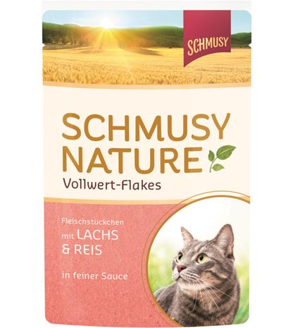 Schmusy Nature Vollwert-Flakes lohi & riisi 100 g