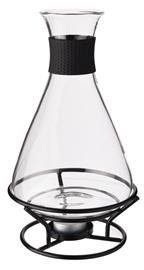 Rosita Glöggkaraff glas svart smidesställnnig rymd 1liter, Kannu
