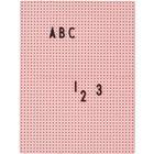 Design Letters Design Letters-Design Letters Ilmoitustaulu A4, Vaaleanpunainen