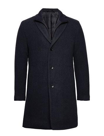 Esprit Casual Coats Woven Villakangastakki Pitkä Takki Sininen Esprit Casual DARK BLUE