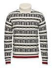 Tommy Hilfiger Over D Fairisle R Knitwear Turtlenecks Valkoinen Tommy Hilfiger WHISPER WHITE