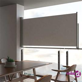 vidaXL Sisäänvedettävä terassin sivumarkiisi 120 x 300 cm harmaa