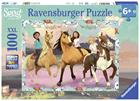 Ravensburger, Puzzle, Spirit, Lucky and her friends, 100 pieces