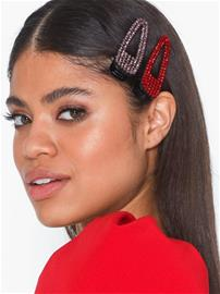 Only Onlcrocodile 2 Pack Party Hairclip Tummanpunainen