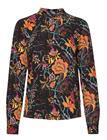 ONLY Onlnova Lux Aop L/S Highneck Top 8 Wvn T-shirts & Tops Long-sleeved Monivärinen/Kuvioitu ONLY BLACK