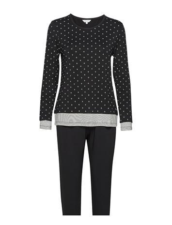 Lady Avenue Bamboo Long Sleeve Pyjamas Pyjama Sininen Lady Avenue PETROL DOTS