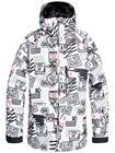 DC Retrospect Jacket white men ply mini print Miehet