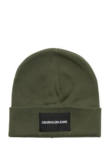 Calvin Klein J Institutional Beanie Accessories Hats & Caps Beanies Vihreä Calvin Klein DEEP DEPTHS