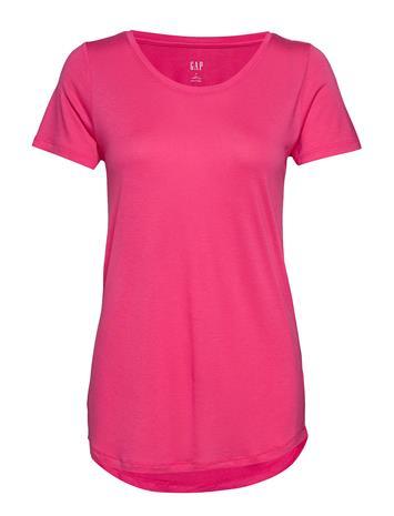 GAP Sh Ss Luxe T-shirts & Tops Short-sleeved Vaaleanpunainen GAP WEDNESDAY PINK