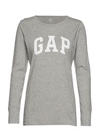 GAP Fr Ls Gap Arch Tee T-shirts & Tops Long-sleeved Harmaa GAP LIGHT HEATHER GREY