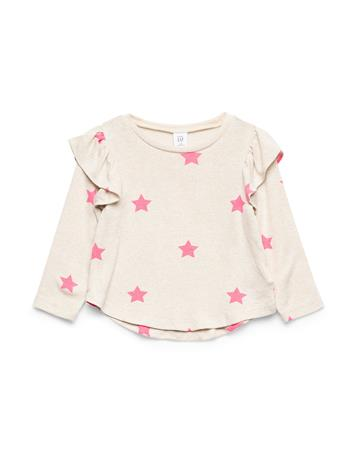 GAP Rfl Snit Top T-shirts Long-sleeved T-shirts GAP SCATTERED STARS