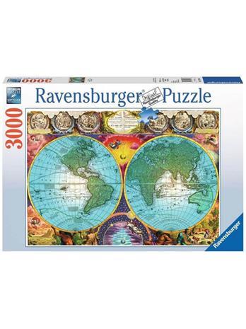 Ravensburger Vanha Kartta Palapeli 3000 Hinta 25
