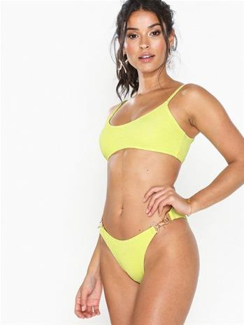 Missguided Crinkle Chain Detail Bikini Brief