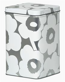 Marimekko Unikko, peltipurkki 102 x 102 x 175 mm