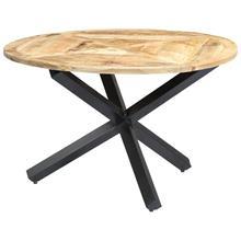 vidaXL Ruokapöytä pyöreä 120x76 cm mangopuu