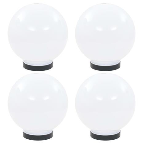 vidaXL LED-pallovalaisimet 4 kpl 20 cm akryyli