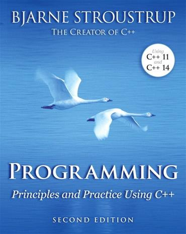Programming - Principles and Practice Using C++ (Bjarne Stroustrup), kirja